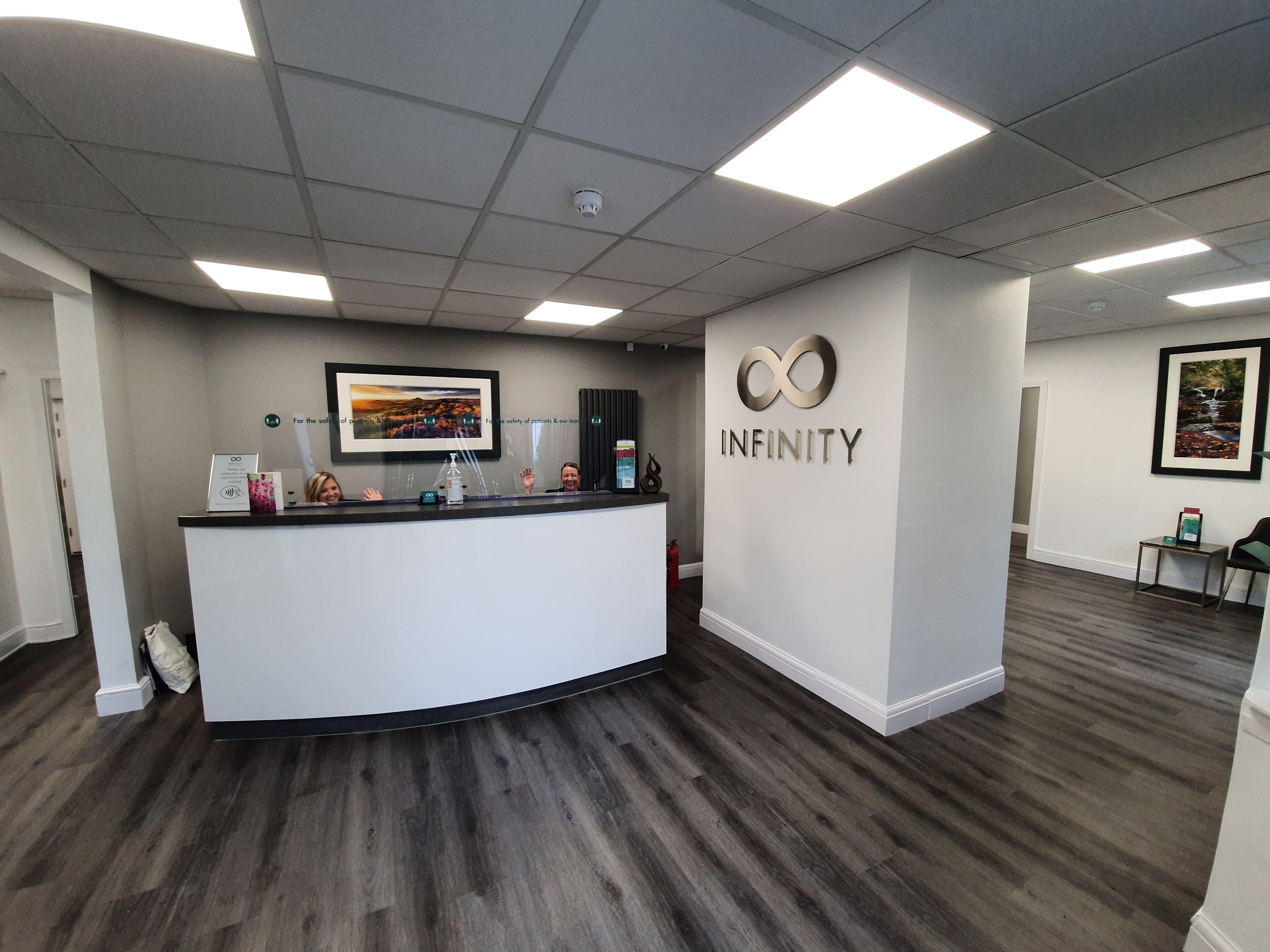 Infinity Dental Clinic reception desk